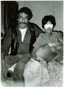 Pablo Acosta with blind girl. He paid for surgery in an attempt to restore her eyesight, one of the good works he said he was engaged in. Photo by the author.